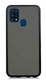 Dafoni Union Samsung Galaxy M31 Ultra Koruma Siyah Kılıf