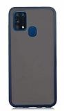 Dafoni Union Samsung Galaxy M31 Ultra Koruma Lacivert Kılıf