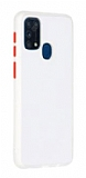 Dafoni Union Samsung Galaxy M31 Ultra Koruma Beyaz Kılıf