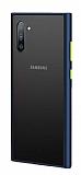 Dafoni Union Samsung Galaxy Note 10 Ultra Koruma Lacivert Kılıf