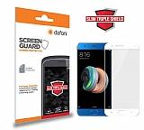 Dafoni Xiaomi Mi Note 3 Slim Triple Shield Beyaz Ekran Koruyucu