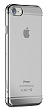 Devia Glimmer 2 iPhone 7 Silver Kenarl� �effaf Rubber K�l�f