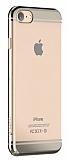 Devia Glimmer 2 iPhone 7 Gold Kenarl� �effaf Rubber K�l�f