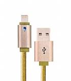 Devia Neo Lightning Işıklı Gold Data Kablosu 1m