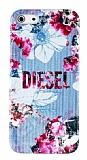 Diesel iPhone 5 / 5S �i�ek Desenli Rubber K�l�f