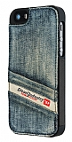 Diesel iPhone 5 / 5S Ta�lanm�� Kot C�zdanl� Rubber K�l�f