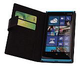 Doormoon Nokia Lumia 920 C�zdanl� Yan Kapakl� Siyah Deri K�l�f