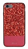 DZGOGO iPhone 6 / 6S Işıltılı Kırmızı Deri Kılıf