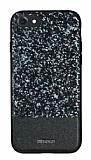 DZGOGO iPhone 7 Işıltılı Siyah Deri Kılıf