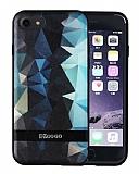 DZGOGO iPhone 7 Silikon Kenarlı Mavi Rubber Kılıf