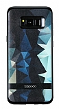 DZGOGO Samsung Galaxy S8 Silikon Kenarlı Mavi Rubber Kılıf