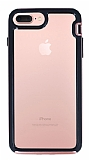 Eiroo Bumper Hybrid iPhone 6 Plus / 6S Plus / 7 Plus / 8 Plus Rose Gold Kenarlı Şeffaf Rubber Kılıf
