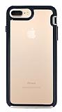 Eiroo Bumper Hybrid iPhone 6 Plus / 6S Plus / 7 Plus / 8 Plus Gold Kenarlı Şeffaf Rubber Kılıf