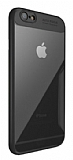 Eiroo Acrylic Hybrid iPhone 6 Plus / 6S Plus Siyah Kenarlı Şeffaf Rubber Kılıf