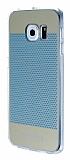 Eiroo Air Dot Samsung Galaxy S6 Edge Mavi Silikon Kılıf