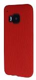 Eiroo Air Spring HTC One M9 �izgili K�rm�z� Silikon K�l�f