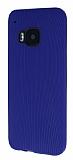 Eiroo Air Spring HTC One M9 �izgili Lacivert Silikon K�l�f