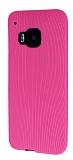 Eiroo Air Spring HTC One M9 �izgili Pembe Silikon K�l�f