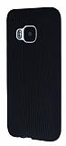Eiroo Air Spring HTC One M9 �izgili Siyah Silikon K�l�f