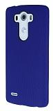 Eiroo Air Spring LG G3 Çizgili Lacivert Silikon Kılıf