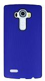 Eiroo Air Spring LG G4 Çizgili Lacivert Silikon Kılıf