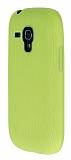 Eiroo Air Spring Samsung Galaxy S3 Mini Çizgili Sarı Silikon Kılıf