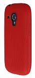 Eiroo Air Spring Samsung Galaxy S3 Mini Çizgili Kırmızı Silikon Kılıf