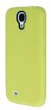 Eiroo Air Spring Samsung i9500 Galaxy S4 Çizgili Sarı Silikon Kılıf