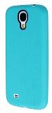 Eiroo Air Spring Samsung i9500 Galaxy S4 �izgili Ye�il Silikon K�l�f