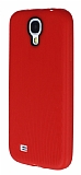Eiroo Air Spring Samsung i9500 Galaxy S4 �izgili K�rm�z� Silikon K�l�f