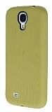 Eiroo Air Spring Samsung i9500 Galaxy S4 �izgili GoldSilikon K�l�f