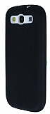 Eiroo Air Spring Samsung i9300 Galaxy S3 �izgili Siyah Silikon K�l�f