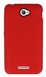 Eiroo Air Spring Sony Xperia E4 Çizgili Kırmızı Silikon Kılıf