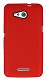 Eiroo Air Spring Sony Xperia E4g Çizgili Kırmızı Silikon Kılıf