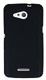 Eiroo Air Spring Sony Xperia E4g Çizgili Siyah Silikon Kılıf