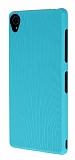 Eiroo Air Spring Sony Xperia Z3 Çizgili Yeşil Silikon Kılıf