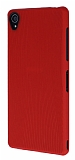 Eiroo Air Spring Sony Xperia Z3 Çizgili Kırmızı Silikon Kılıf