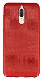 Eiroo Air To Dot Huawei Mate 10 Lite Delikli Kırmızı Rubber Kılıf
