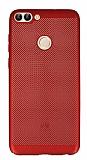 Eiroo Air To Dot Huawei P Smart Delikli Kırmızı Rubber Kılıf