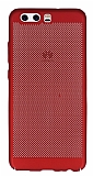 Eiroo Air To Dot Huawei P10 Delikli Kırmızı Rubber Kılıf