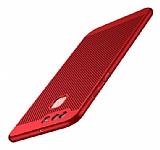 Eiroo Air To Dot Huawei P9 Delikli Kırmızı Rubber Kılıf