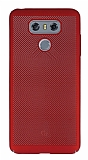 Eiroo Air To Dot LG G6 Delikli Kırmızı Rubber Kılıf