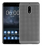 Eiroo Air To Dot Nokia 6 Delikli Dark Silver Rubber Kılıf