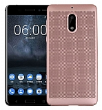 Eiroo Air To Dot Nokia 6 Delikli Rose Gold Rubber Kılıf