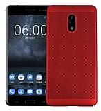 Eiroo Air To Dot Nokia 6 Delikli Kırmızı Rubber Kılıf