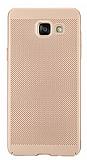 Eiroo Air To Dot Samsung Galaxy A7 2016 Delikli Gold Rubber Kılıf