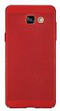 Eiroo Air To Dot Samsung Galaxy A7 2016 Delikli Kırmızı Rubber Kılıf