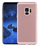 Eiroo Air To Dot Samsung Galaxy A8 Plus 2018 Delikli Rose Gold Rubber Kılıf