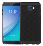 Eiroo Air To Dot Samsung Galaxy C9 Pro Delikli Siyah Rubber Kılıf