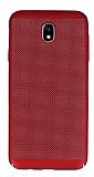 Eiroo Air To Dot Samsung Galaxy J5 Pro 2017 Delikli Kırmızı Rubber Kılıf